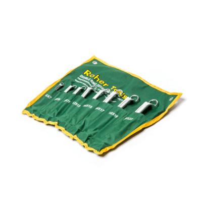 """סט 8 מפתחות רינג רינג 6X7-20X22 מ""""מ OFFSET, זווית 75 מעלות ROHER-TOOLS"""