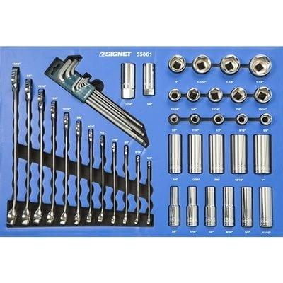 מגש סט בוקסות + מפתחות רינג פתוח אינץ' 40 יחידות Signet