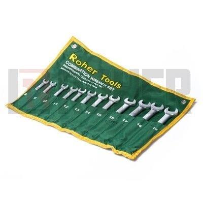 """סט 12 מפתחות רינג פתוח 8-19 מ""""מ ROHER-TOOLS"""