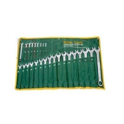 """סט 26 מפתחות רינג פתוח מלא 6-32 מ""""מ ROHER-TOOLS"""