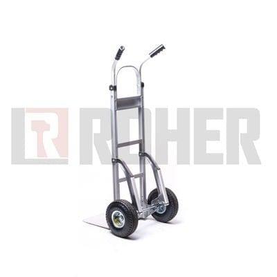 עגלת סבלים אלומיניום עם מחליקיים גלגלים פניאומטים טאיוואן ROHER PRO
