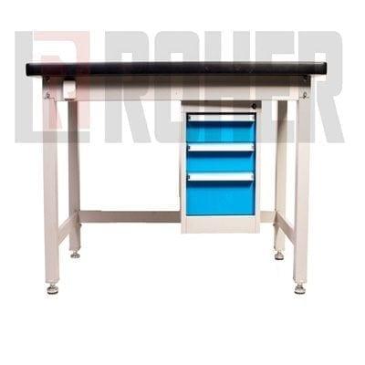 """שולחן מעמס כבד 180X75 ס""""מ דגם 1875 אפור ROHER PRO"""