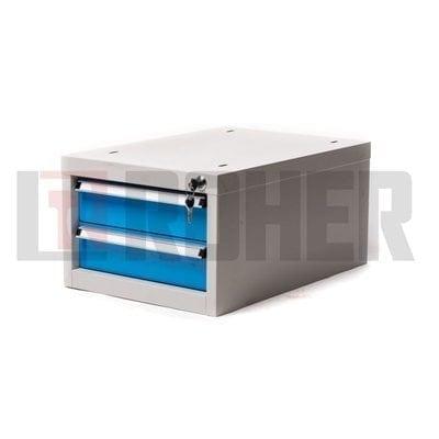 יחידת 2 מגירות לשולחן עבודה אפור/כחול ROHER PRO