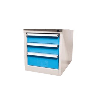 יחידת 3 מגירות לשולחן עבודה אפור/כחול ROHER PRO