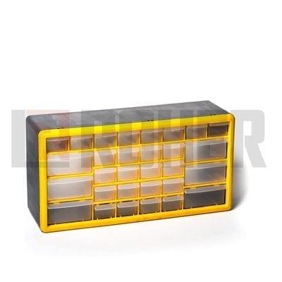 """יחידת אחסון פלסטיק בירגיה 30 מגירות 25X16X50 ס""""מ ROHER-TOOLS"""