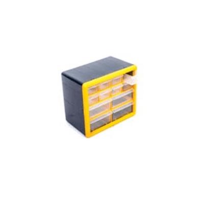"""יחידת אחסון פלסטיק בירגיה 12 מגירות 23.5X16X26.5 ס""""מ ROHER-TOOLS"""