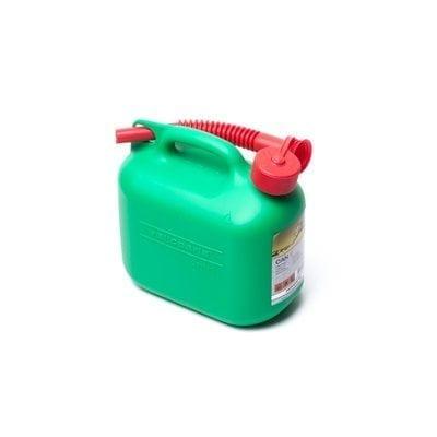מיכל דלק 5 ליטר פלסטיק + משפך גמיש ROHER-TOOLS