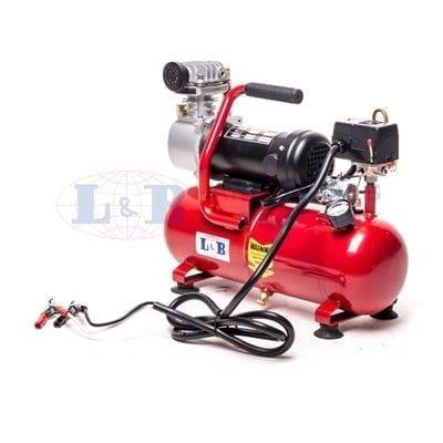 מדחס אויר 12V מקצועי עם מיכל 8 ליטר ספיקה גבוהה LINSON&BRIGHT