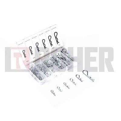 """מארז פין אבטחה כ-150 יחידות קוטר 2.2 – 4 מ""""מ ROHER-TOOLS"""