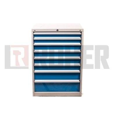 יחידת אחסון 8 מגירות מעמס כבד דגם 90 אפור – כחול ROHER PRO