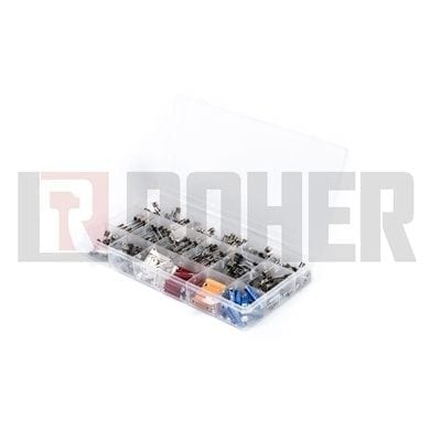 מארז 270 פיוזים זכוכית + פיוזים לרכב אירופאי 0.1 – 30 אמפר ROHER-TOOLS