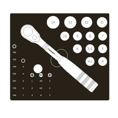 סט בוקסות 1/4 – בוקסות ללא החלקה + ביטים 36 יחידות Signet