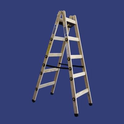 סולם עץ רב מקצועי – תו תקן סולמות חגית