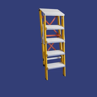 סולם מדרגות מתקפל מפיברגלס – מקצוענים סולמות חגית