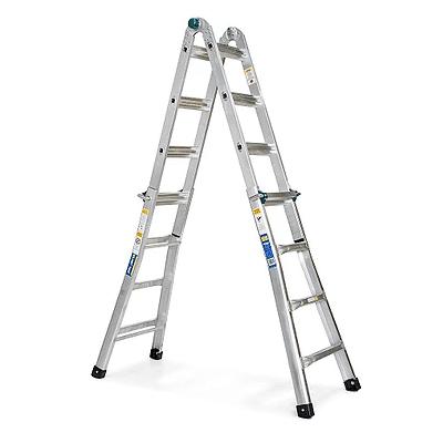 סולם אלומניום טלסקופי, 4 חלקים – לשימוש ביתי סולמות חגית