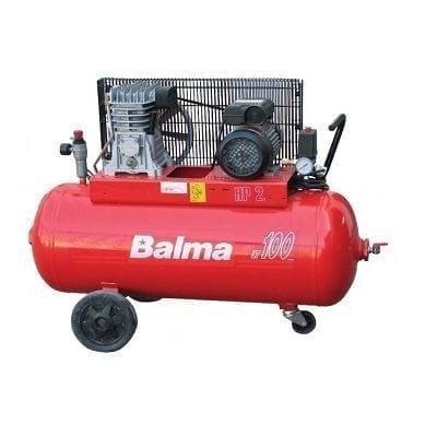 "מדחס 100 ליטר 2 כ""ס 230V עם רצועה BALMA B22007"
