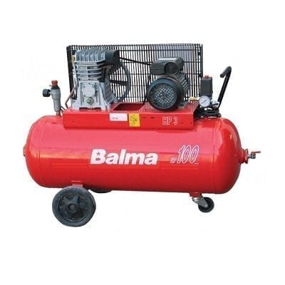 "מדחס 100 ליטר 3 כ""ס 400V עם רצועה BALMA B22007/3"