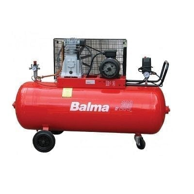 "מדחס 200 ליטר 3 כ""ס 230V עם רצועה BALMA B22008"