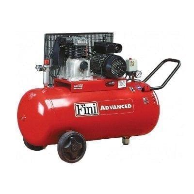 """מדחס 100 ליטר 3 כ""""ס 400V עם רצועה FINI MK102"""