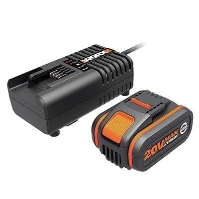 ערכת מטען מהיר 20V+סוללה ליתיום WORX WA3604 4.0Ah