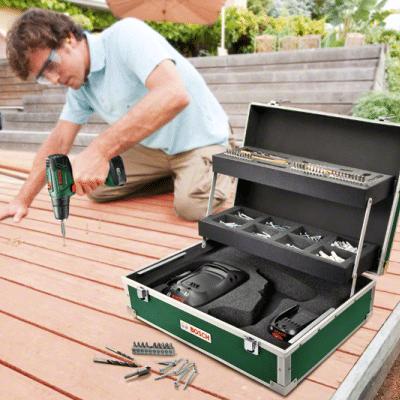 מברגה/ מקדחה 14.4V ליתיום Bosch PSR 1440 LI-2 + סט ביטים למברגה 25 חלקים