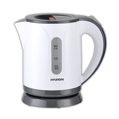 קומקום חשמלי 0.8 ליטר לבן/אדום – HYUNDAI