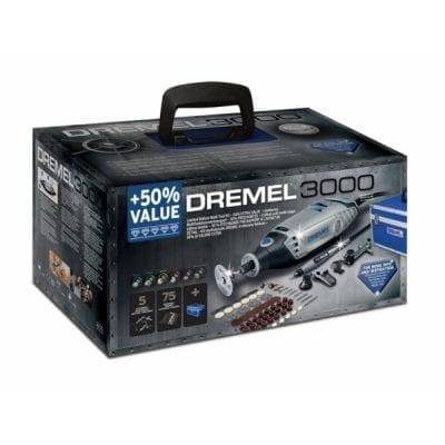 דרמל 3000 – 75 אביזרים + ציר גמיש במזוודה DREMEL 3000NK