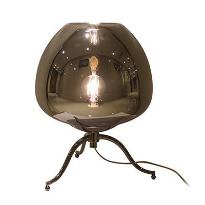 מנורת שולחן JOY E27 זכוכית אפור מעושן SEMICOM
