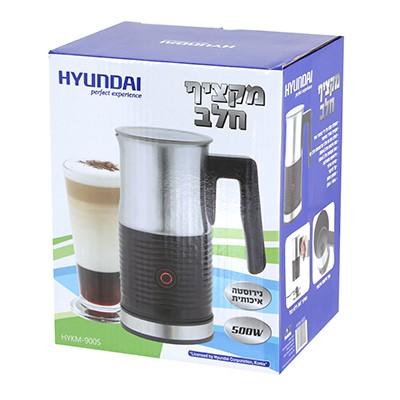 """מקציף חלב נירוסטה 500 וואט 50 מ""""מ – HYUNDAI HYKM-900S"""
